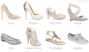 Types of wedding shoes